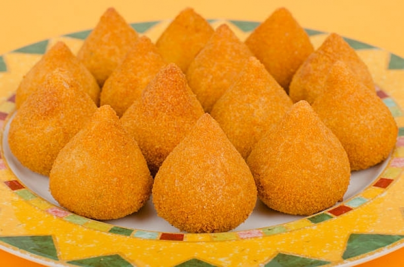 Preço de Mini Coxinha Frita Itaim Bibi - Mini Coxinha para Aniversário
